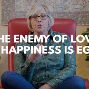 Ego is the enemy of love & happiness title