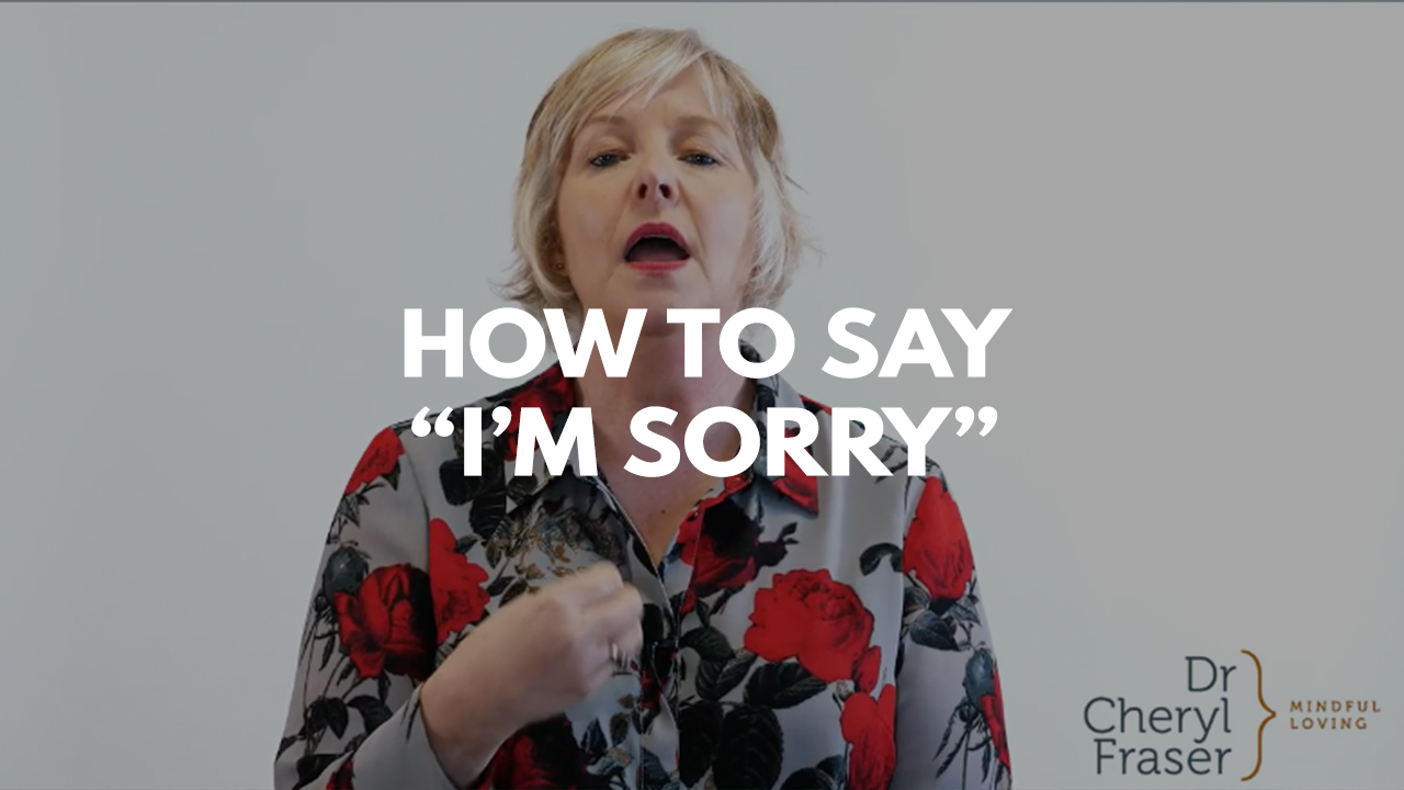 How to say sorry title with Dr. Cheryl Fraser